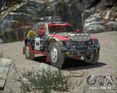 Mitsubishi Pajero Proto Dakar EK86 vinil 1 para GTA 4 vista interior