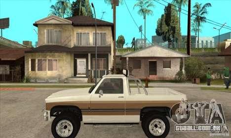 Ford Ranger para GTA San Andreas esquerda vista