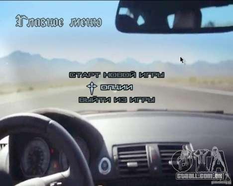 A plano de fundo no menu para GTA San Andreas sexta tela