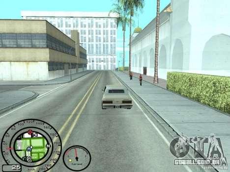 Velocímetro com indicador de combustível para GTA San Andreas terceira tela