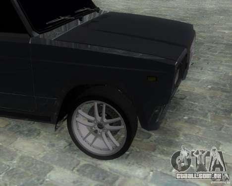 VAZ 2107 Drift Enablet Editional i3 para GTA San Andreas traseira esquerda vista