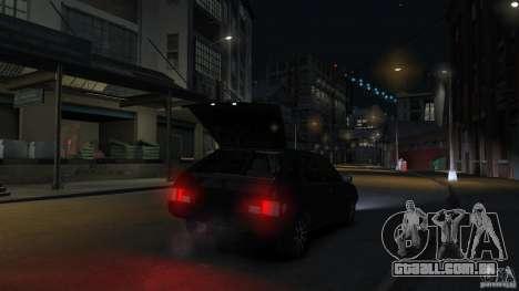VAZ 2109 luz tuning para GTA 4 vista inferior