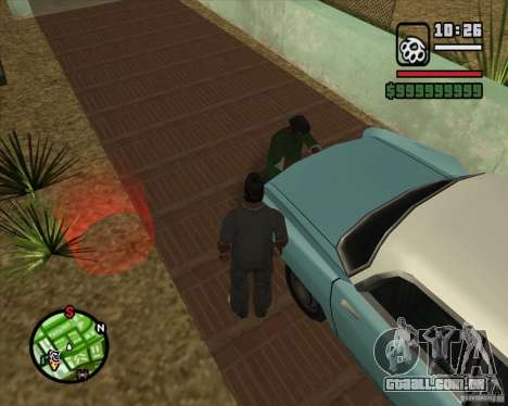 Greetings 2U: GS para GTA San Andreas segunda tela
