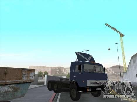 KAMAZ 54115 para GTA San Andreas vista interior