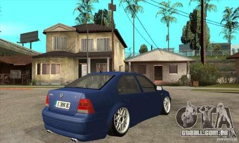 VW Bora VR6 Street Style para GTA San Andreas vista direita