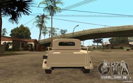 GÁS M415 para GTA San Andreas traseira esquerda vista
