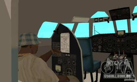 Antonov an-24 para GTA San Andreas vista traseira