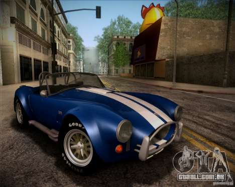 Shelby Cobra 427 Full Tunable para vista lateral GTA San Andreas