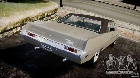 Plymouth Scamp 1971 para GTA 4 traseira esquerda vista