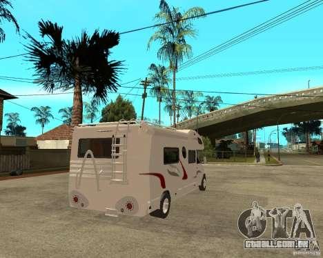 Chevrolet Camper para GTA San Andreas traseira esquerda vista