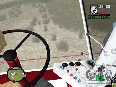 Combinar Niva SK-5 para GTA San Andreas vista interior