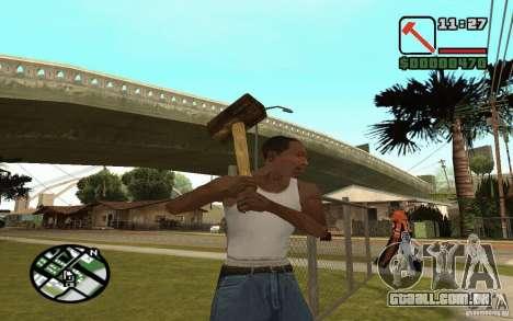 Foice e martelo para GTA San Andreas quinto tela