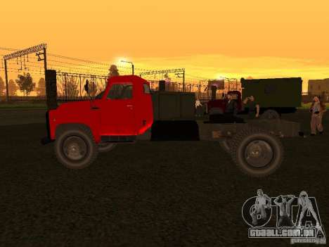 GAZ 53 caminhão para GTA San Andreas traseira esquerda vista