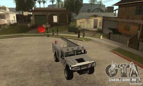 Hummer H1 Utility Truck para GTA San Andreas vista traseira