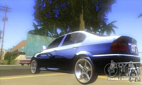 BMW 325i E46 v2.0 para GTA San Andreas vista traseira