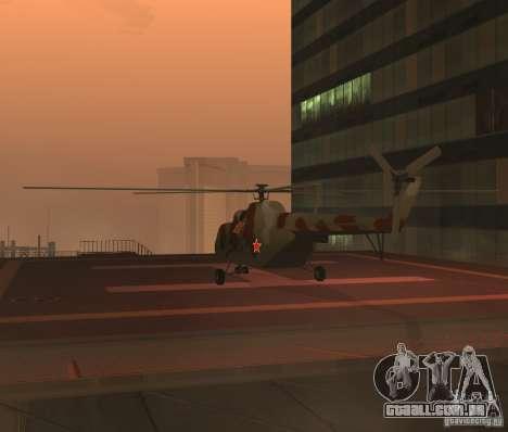 MI-17 militares para GTA San Andreas vista direita