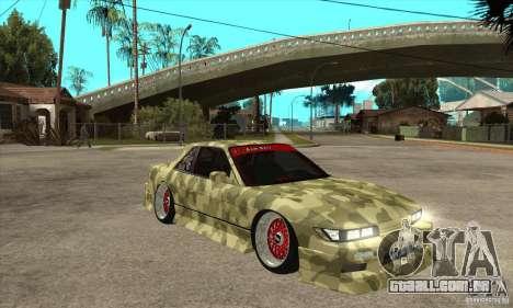 Nissan Silvia S13 Army Drift para GTA San Andreas vista traseira