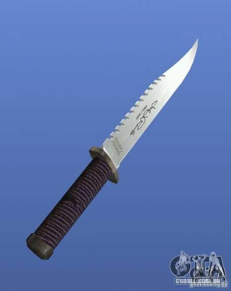 Faca Rambo com assinatura para GTA 4 segundo screenshot