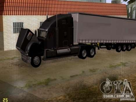 Freightliner Coronado para vista lateral GTA San Andreas