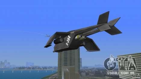 X-304 Gunship para GTA Vice City vista traseira esquerda
