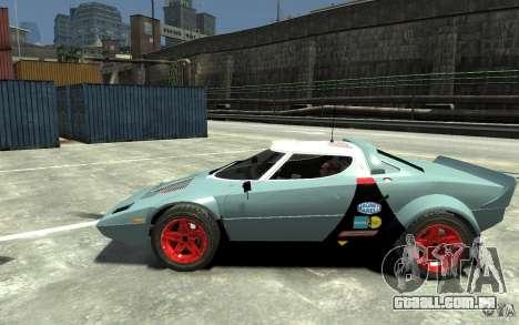 Lancia Stratos para GTA 4 esquerda vista