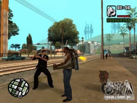 Animals in Los Santos para GTA San Andreas por diante tela
