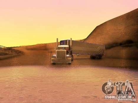 Truck Optimus Prime v2.0 para GTA San Andreas vista interior