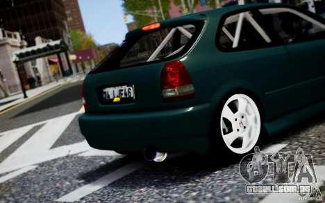 Honda Civic 1.4iES HB 1999 para GTA 4 vista de volta
