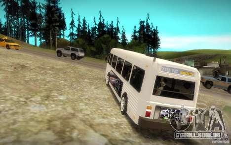 NFS Undercover Bus para GTA San Andreas traseira esquerda vista