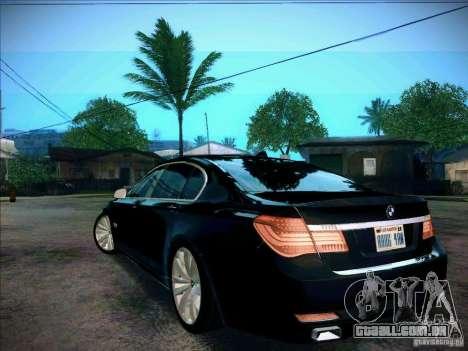 BMW 750Li 2010 para GTA San Andreas esquerda vista