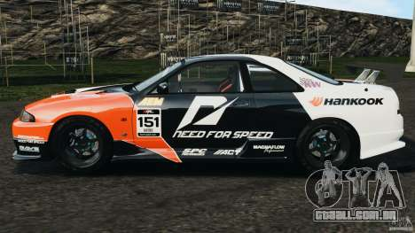 Nissan Skyline GT-R (R33) v1.0 para GTA 4 esquerda vista