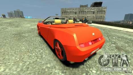Alfa Romeo GTV Spider para GTA 4 traseira esquerda vista
