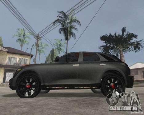 Infiniti FX35 para GTA San Andreas esquerda vista