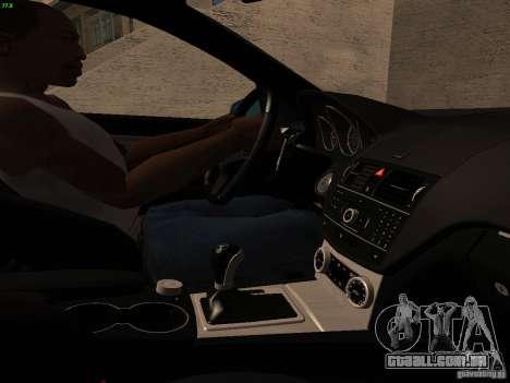 Mercedes-Benz C36 AMG para GTA San Andreas vista inferior