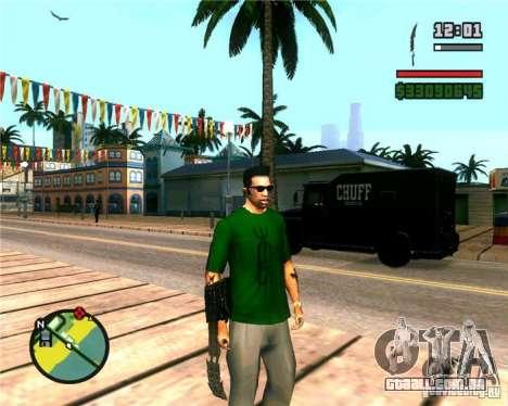 As garras de um predador para GTA San Andreas por diante tela