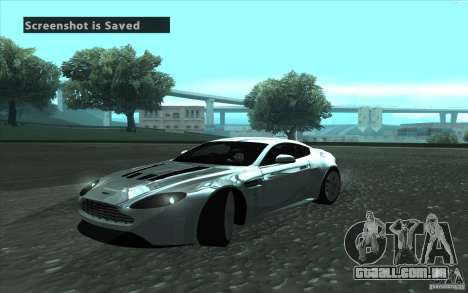 Aston Martin V12 Vantage para GTA San Andreas vista direita