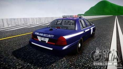 Ford Crown Victoria Homeland Security [ELS] para GTA 4 vista lateral