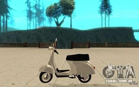 GTAIV EFLC Faggio Classic para GTA San Andreas esquerda vista