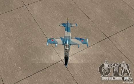 L-39 Albatross para vista lateral GTA San Andreas