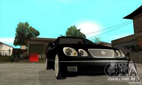 TOYOTA ARISTO 2001 ano para GTA San Andreas vista traseira