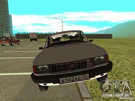 GAZ Volga 31022 para GTA San Andreas traseira esquerda vista