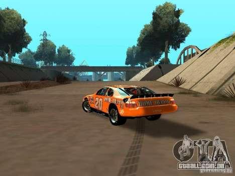 Toyota Camry Nascar Edition para GTA San Andreas traseira esquerda vista
