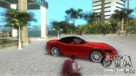 Dodge Viper SRT 10 Coupe para GTA Vice City vista direita
