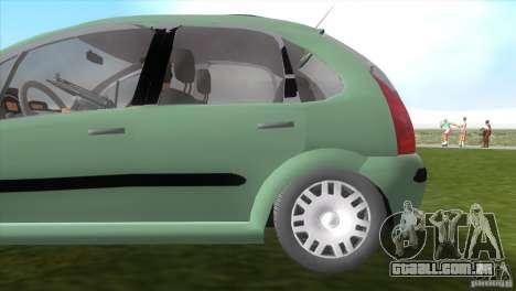 Citroen C3 para GTA Vice City vista traseira