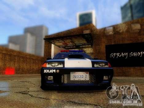 Nissan Skyline R32 Police para GTA San Andreas vista traseira