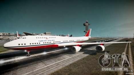 THY Air Plane para GTA 4 esquerda vista