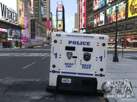 Enforcer Emergency Service NYPD para GTA 4 vista direita