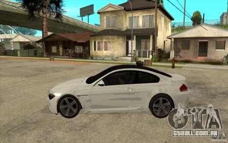 BMW M6 Coupe V 2010 para GTA San Andreas esquerda vista