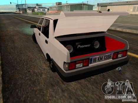 Tofas Sahin DRIFT para GTA San Andreas traseira esquerda vista