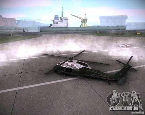 Sikorsky VH-60N Whitehawk para GTA San Andreas esquerda vista
